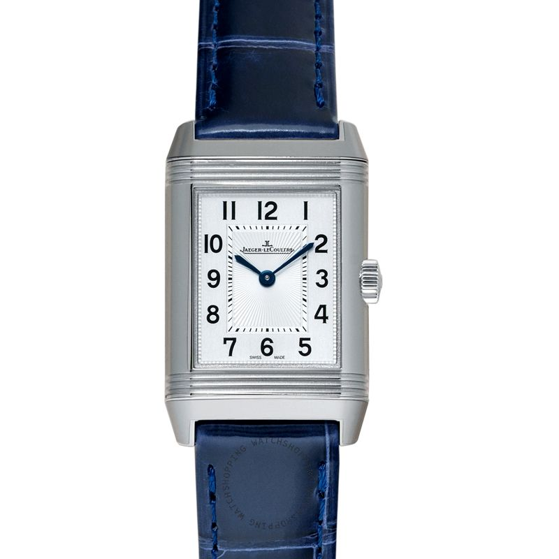 Jaeger LeCoultre Reverso Classic Small Duetto Manual-winding Silver Dial Ladies Watch