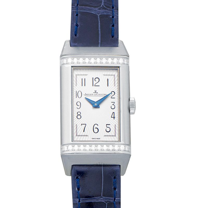 Jaeger LeCoultre Reverso One Duetto Manual-winding Silver Dial Two Rows Diamond Ladies Watch Q3348420
