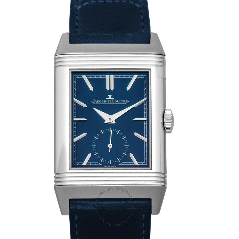 Jaeger LeCoultre Reverso Tribute Small Seconds Manual-winding Blue Dial 45.6mm x 27.4mm Men's Watch Q3978480