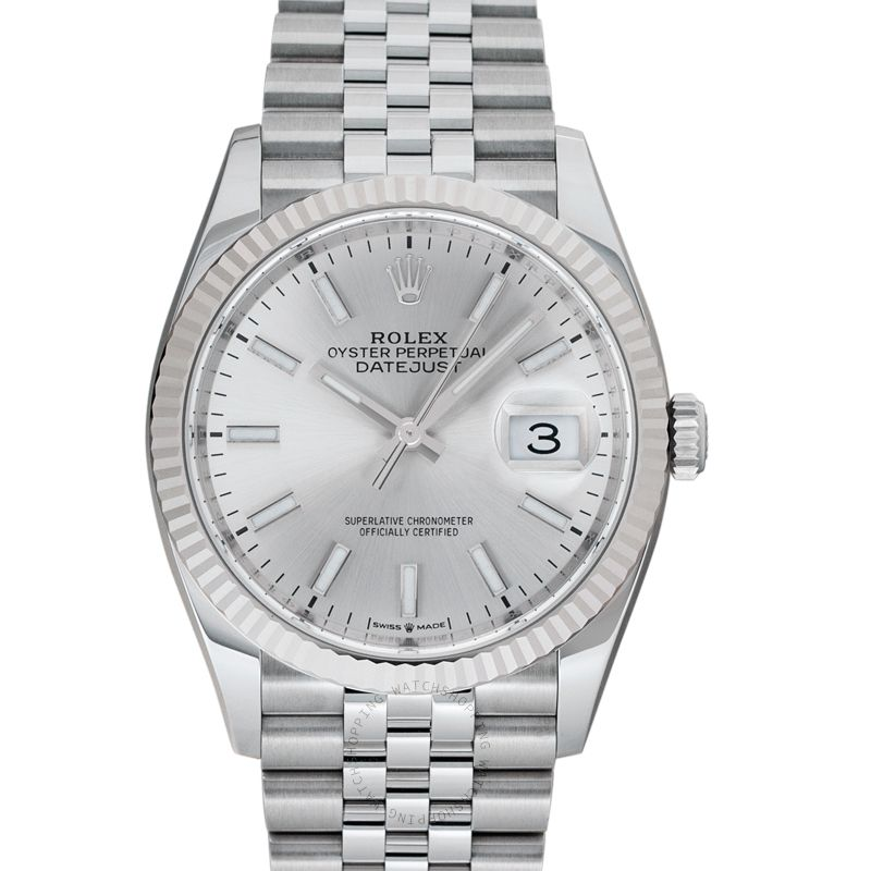 Rolex Datejust 36 Automatic Silver Dial Oystersteel and 18 ct White Gold Ladies Watch 126234-0013