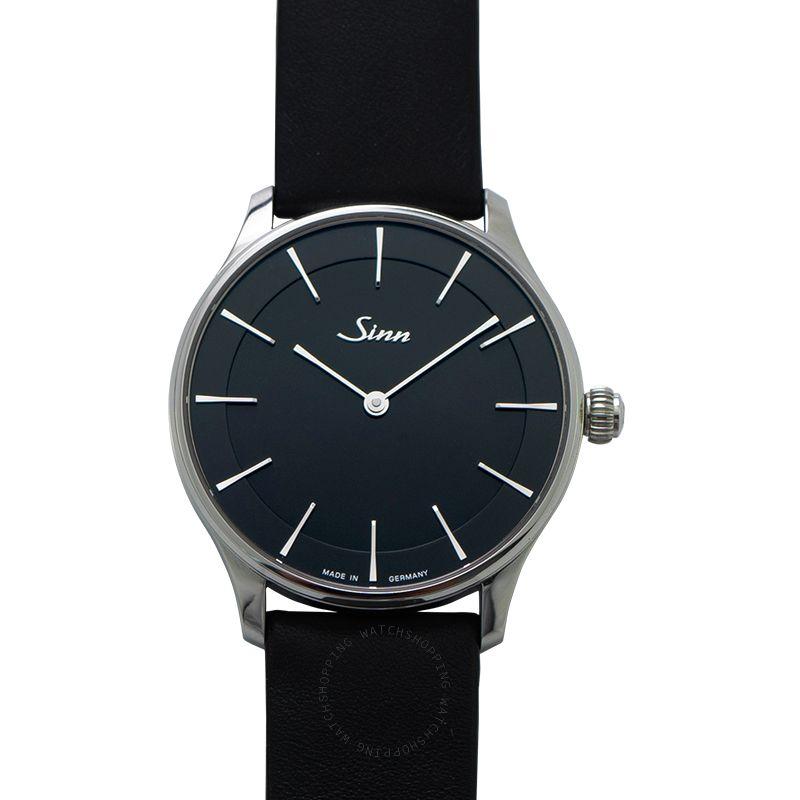 Sinn Classic Timepieces 1739.012-Leather-Calfskin-Blk
