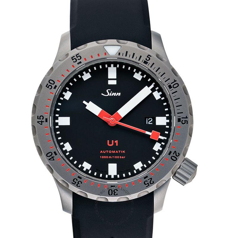 Sinn Diving Watches 1010.010-Silicone-FC-BLK