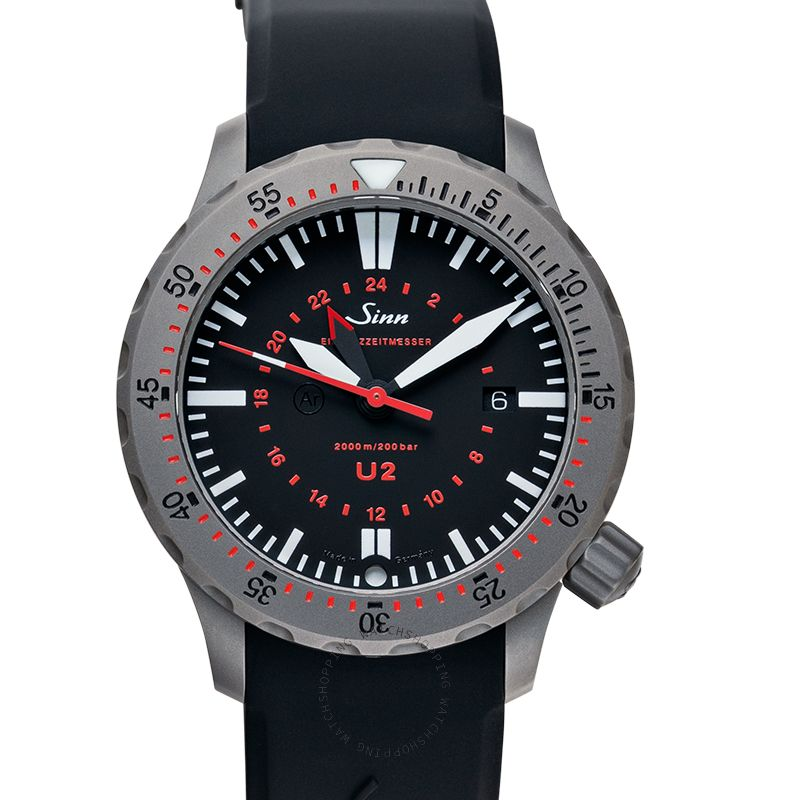 Sinn Diving Watches 1020.030-Silicone-LFC-Blk