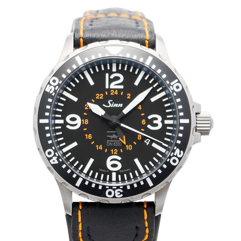 SINN Instrument Watches 857.0401-Leather-Cowhide-BLK