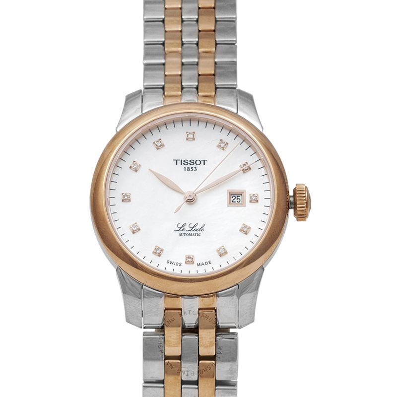 Tissot T-Classic Le Locle Automatic Lady (29.00) Automatic Mother Of Pearl Dial Diamond Indexes Ladies Watch T006.207.22.116.00