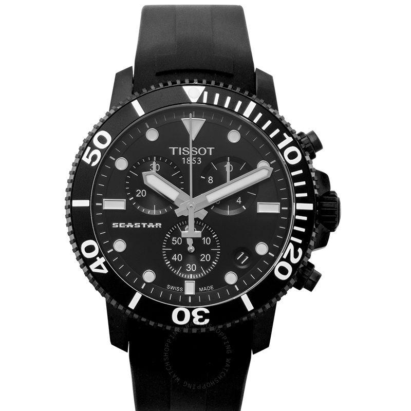 Tissot T-Sport Seastar 1000 Chronograph Quartz Black Dial Men's Watch T120.417.37.051.02
