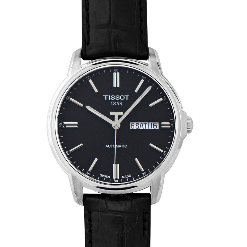 Tissot T-Classic Automatics III Black Dial Men's Watch T065.430.16.051.00