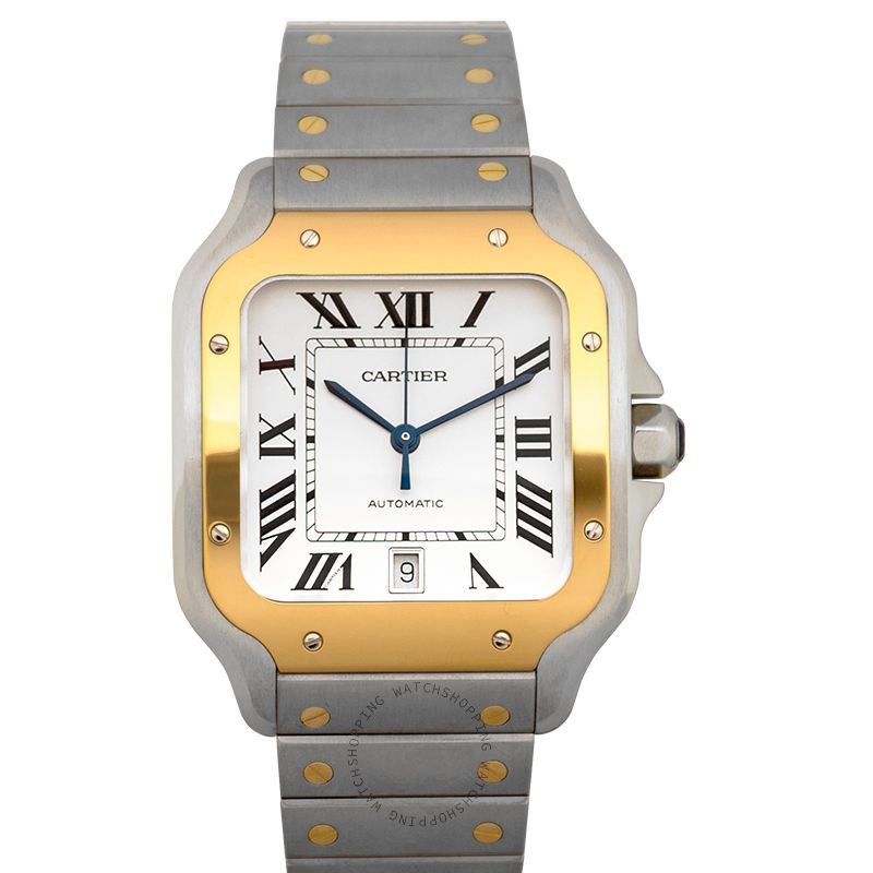 Cartier Cartier Santo de Cartier Watch Yellow Gold Silver/Steel 39.8mm