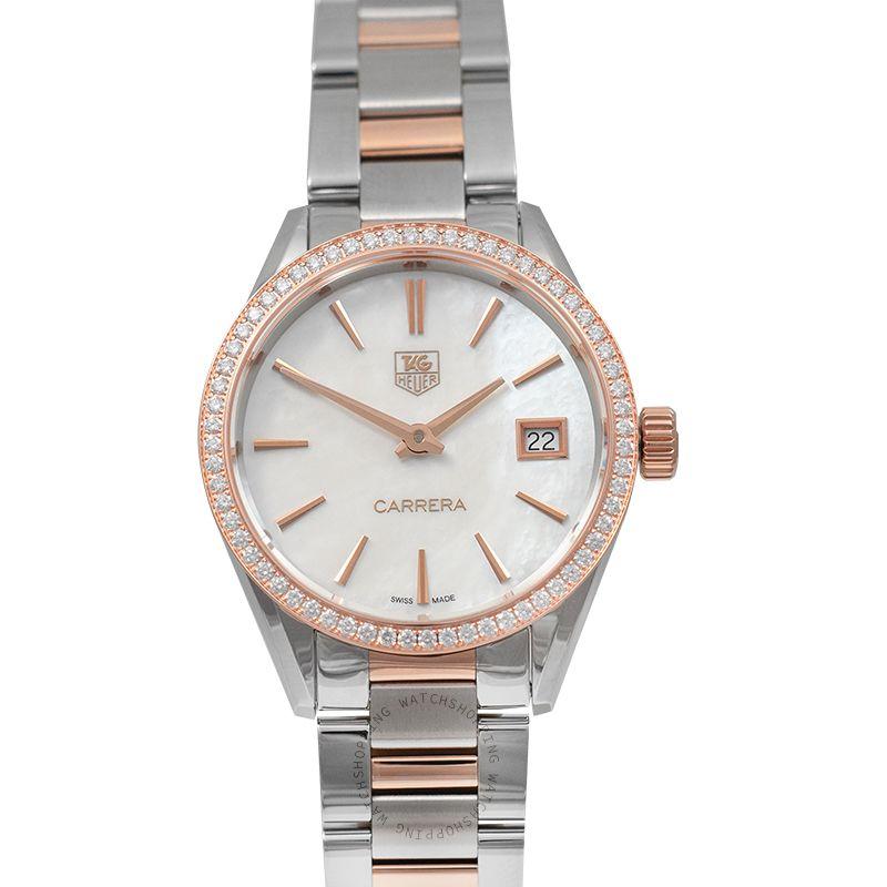 TAG Heuer Carrera Ladies Quartz Mother Of Pearl Dial Ladies Watch