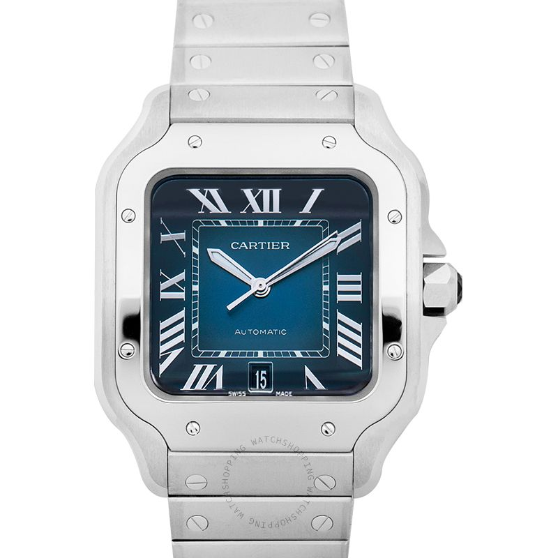 Cartier Santos de Cartier 39.8 mm Automatic Blue Dial Steel case Men's Watch WSSA0013