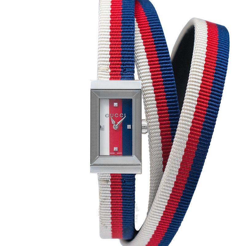 Gucci G-Frame Quartz Multicolored Dial Ladies Watch