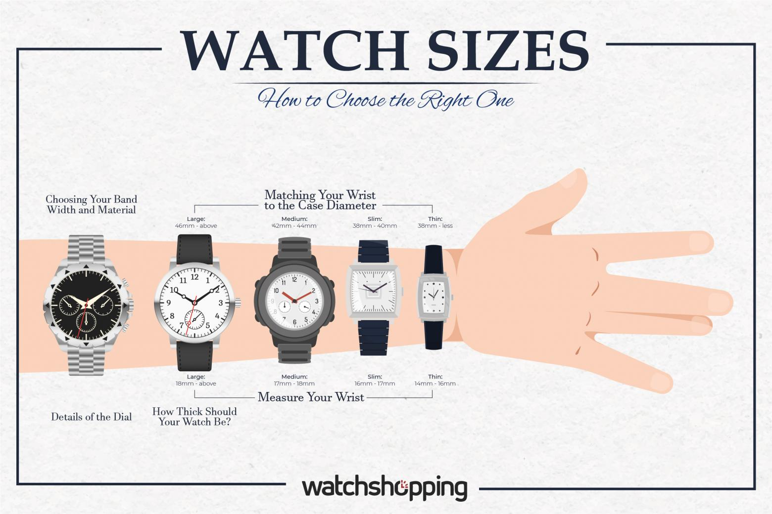 Watch Sizes: How to Choose the Right One