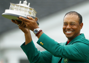 Tiger Woods Sports a Rolex Deepsea After Masters Win