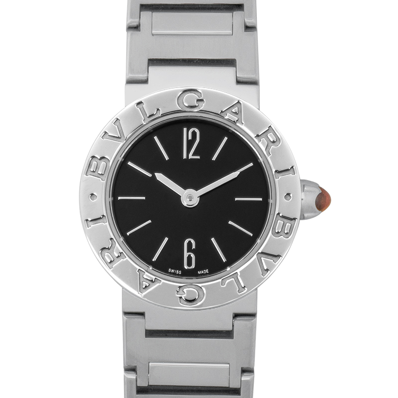 Bvlgari Quartz Black Dial Ladies Watch