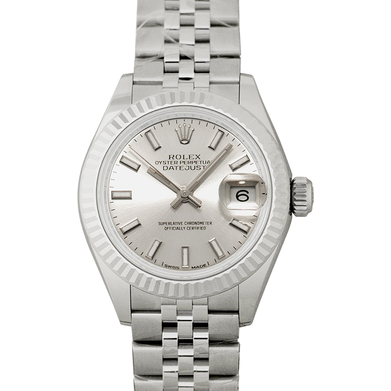 Lady-Datejust Automatic Silver Dial Oystersteel and 18 ct White Gold Ladies Watch