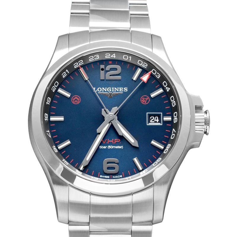 Conquest VHP GMT Quartz Blue Dial Men's Watch
