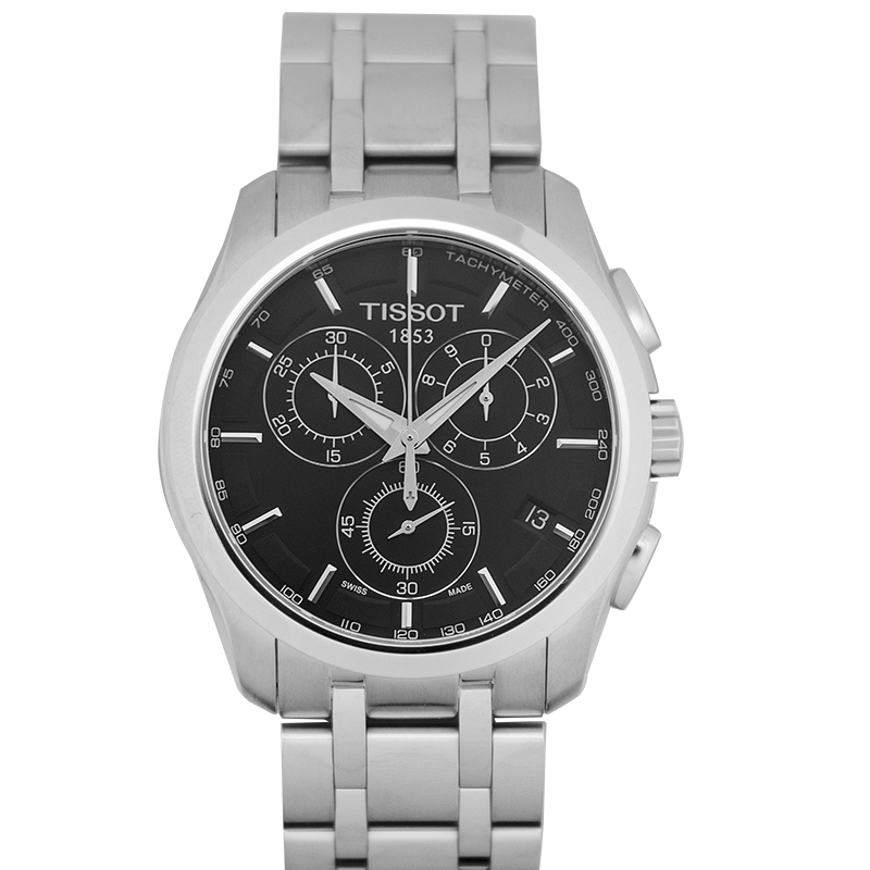 T-Classic Couturier Chronograph Quartz Black Dial Men's Watch
